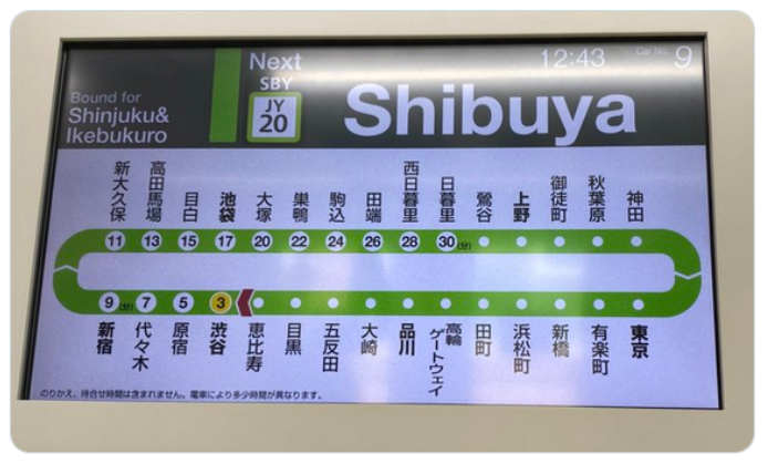 Unsubstantiated information: Tokyo's Yamanote railway line stopped displaying Chinese and Korean signage